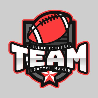 Logo Creator for a College Football Team 2702c
