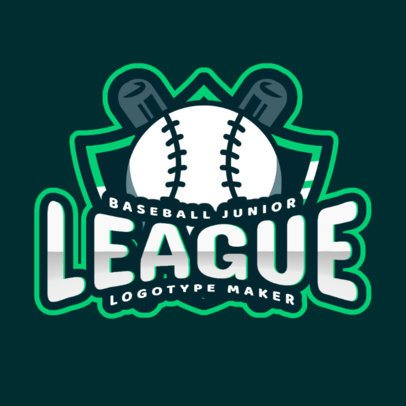 Baseball Logo Template for a Junior League 2702e
