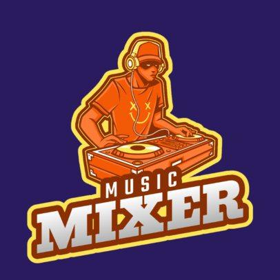 Online DJ Logo Creator for a Music Mixer 2661k-2694