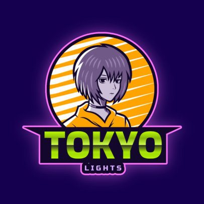 Online Logo Maker Featuring an Anime Character 2718