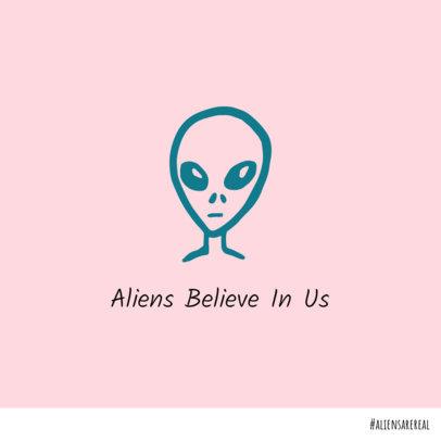 Instagram Post Template for an Alien Fanatic 612k 38-el