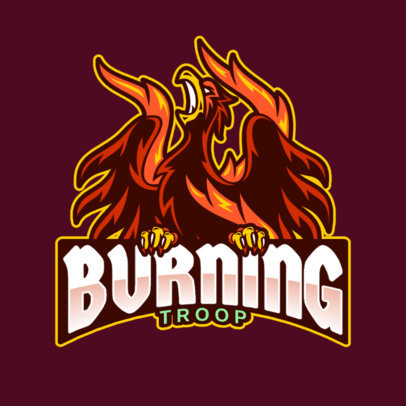Gaming Logo Maker Featuring a Flaming Phoenix Graphic 2707a