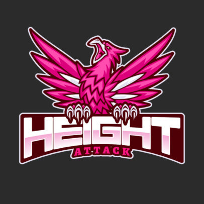 Logo Generator for a Sports Team Featuring an Aggressive Phoenix Clipart 2707d