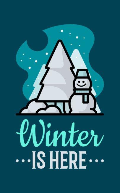 X-mas T-Shirt Design Maker Featuring a Happy Snowman 625i-167-el