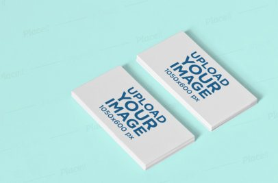 Stationery Mockup Featuring Two Piles of Business Cards 1028-el