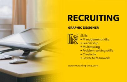 Online Flyer Maker for Job Advertisements 291c
