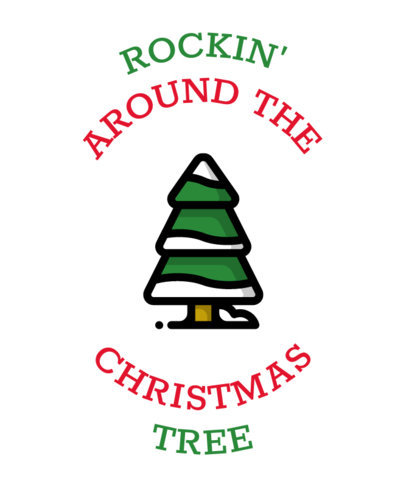 T-Shirt Design Maker for a Rocking Christmas 30a-el