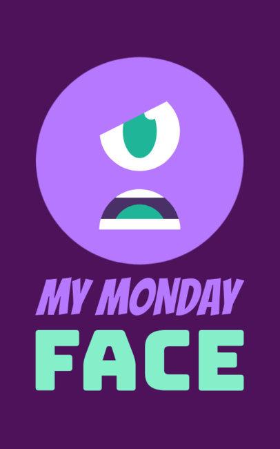 Cool T-Shirt Design Generator with a Funny Bad Monday Quote 351j 116-el