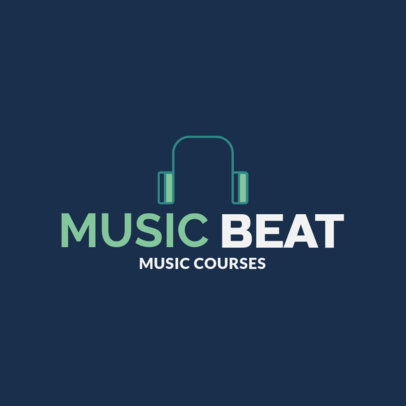 Logo Maker for a Modern Music School