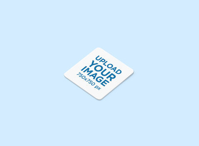 Mockup of an Angled Squared Coaster with Rounded Corners 1218-el