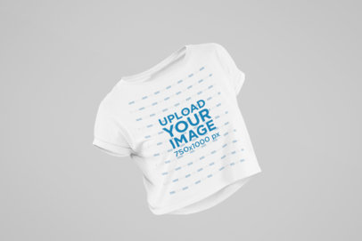 Mockup of a Ghosted Crop Top with Customizable Background 29506