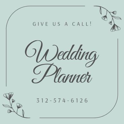 Wedding Planner Services Instagram Post Design Maker 1998a