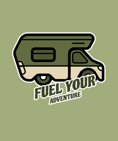 T-Shirt Design Generator Featuring a Recreational Vehicle Illustration 26b-el