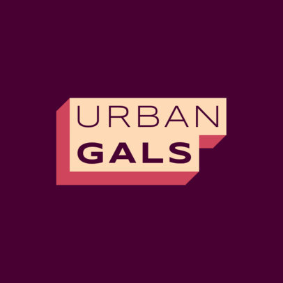 Urban Apparel Logo Maker Featuring a Simple Font Design 2722i