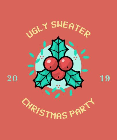 T-Shirt Maker with an Ugly Christmas Sweater Theme 831g-168-el