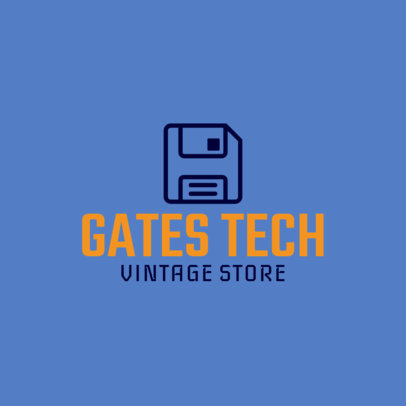 Online Logo Template for Retro Technology Stores 1252j 146-el