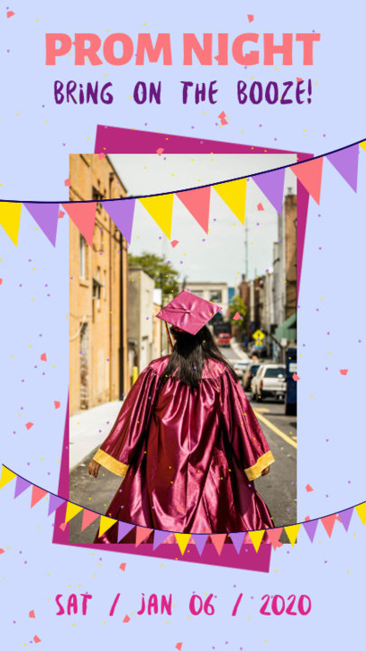 Instagram Story Template for a Prom Night Invitation 1989b-el