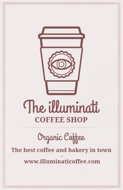 Coffee Shop Online Flyer Maker with a Coffee Cup Clipart 406f-158-el