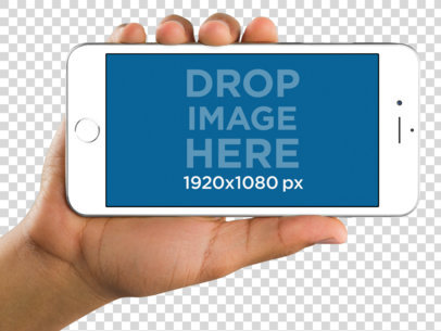 Female Hand Holding an iPhone 6 Plus Mockup a11199
