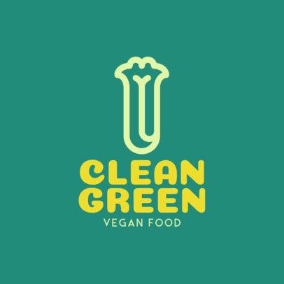 Minimalistic Vegan Restaurant Logo Maker with a Vegetable Icon 1236i-153-el