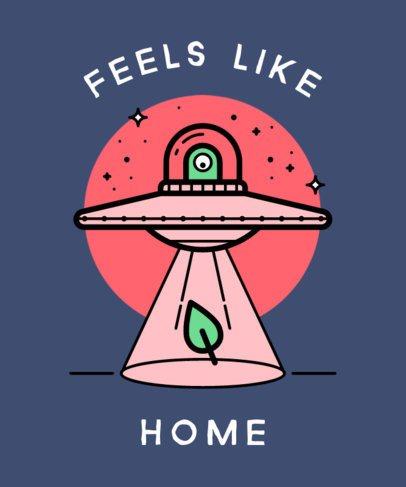 T-Shirt Design Maker with a Friendly Alien Graphic 437g 181-el