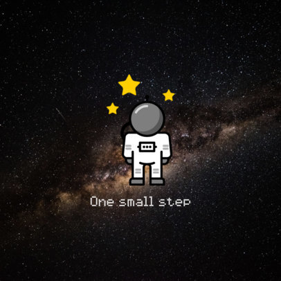 Phone Grip Design Maker with a Colored Astronaut 680f 183-el