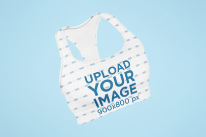 Ghosted Mockup of a Sports Bra with Customizable Background 29518