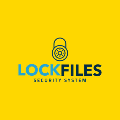 Cyber Security Logo Maker with a Lock Icon