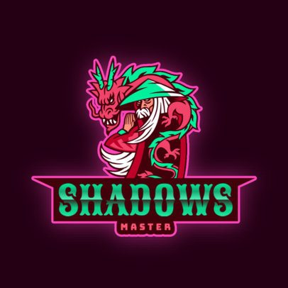 Anime-Styled Logo Maker Featuring a Dragon Warrior 2718a