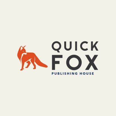 Book Publishing Company Logo Template Featuring a Fox Illustration 1265k 2659