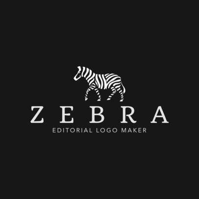 Editorial Company Logo Generator Featuring a Zebra Graphic 1265l 2659