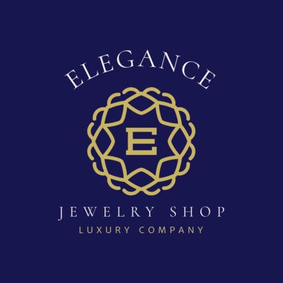 Elegant Logo Template for a Luxury Jewelry Shop 2189h 156-el