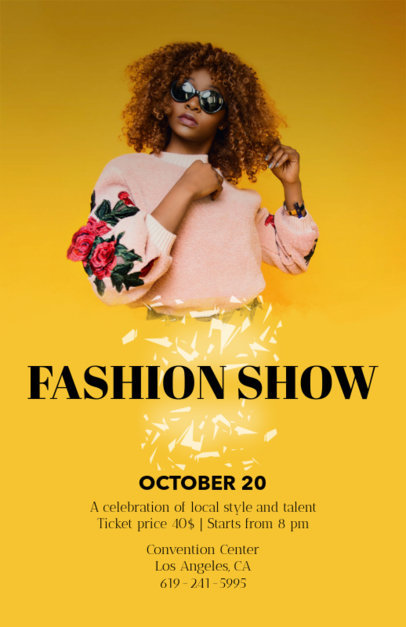 Customizable Flyer Template for Fashion Shows 119a