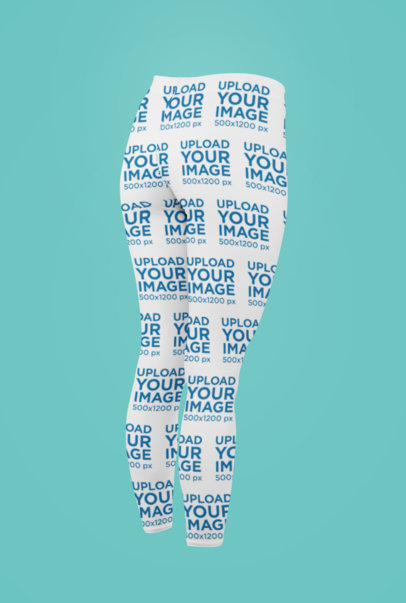 Ghosted Leggings Mockup Featuring a Solid Color Backdrop 29511