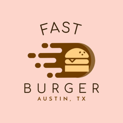 Fast Food Logo Maker for a Burger Restaurant 1213j-205-el