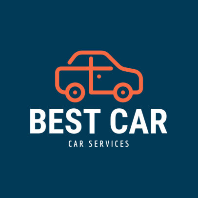 Automotive Logo Maker with a Minimalistic Car Illustration
