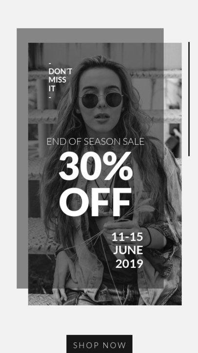 Minimalist Instagram Story Template for a Clothing Store 40-el