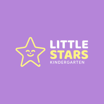 Kindergarten Logo Maker with a Happy Star Icon 1094g-152-el