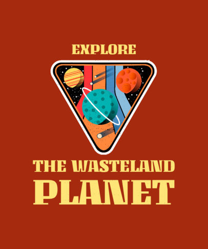 T-Shirt Design Maker with Planet Graphics Featuring a Retro Style