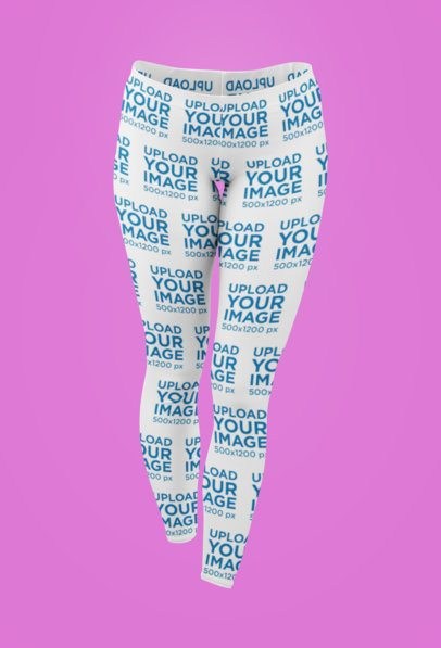 Ghosted Mockup of Leggings Against a Customizable Background 29515