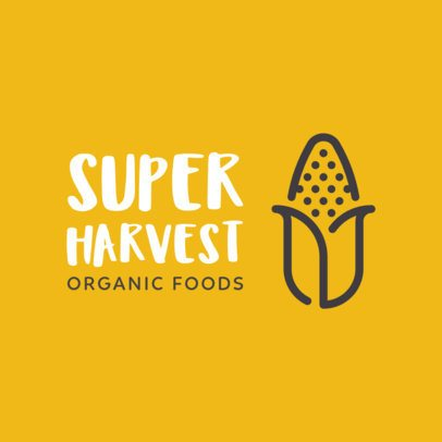Trendy Logo Maker for an Organic Food Shop 1236i 139-el