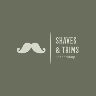 Logo Creator with a Handlebar Mustache Icon for a Barber Shop 1467f 180-el
