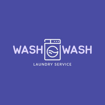 Laundry Store Logo Maker 1776g 142-el