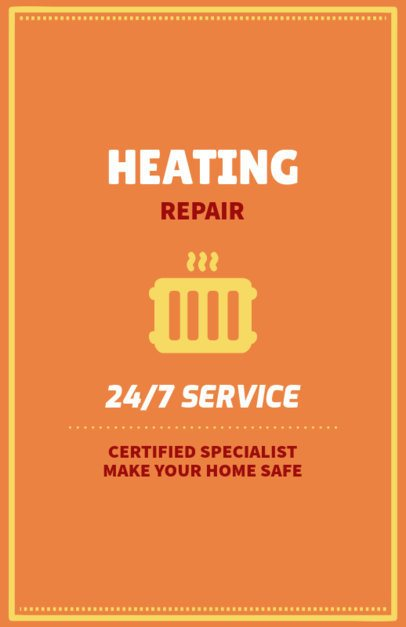 Flyer Design Template for Heating Repair Companies 730f 120-el