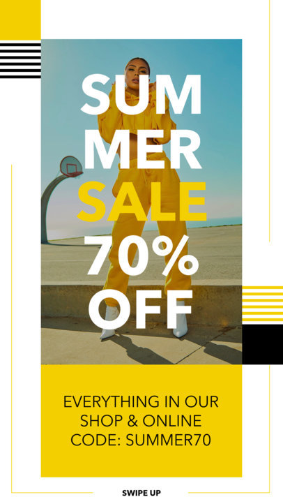 Instagram Story Template for a Cool Fashion Sale 9-el