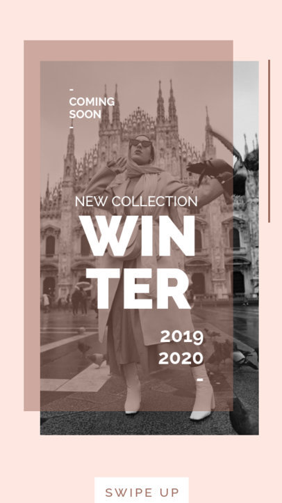 Modern Instagram Story Template for a Winter Collection 40b-el