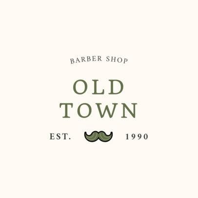 Barber Shop Logo Generator Featuring a Mustache Clipart 1471g 157-el