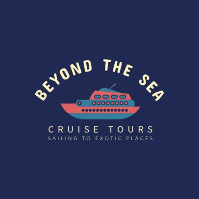 Online Logo Maker for a Cruise Tours Company 1281i 138-el