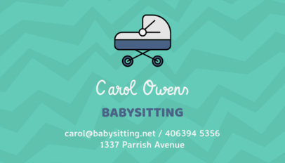 Business Card Creator for Babysitters 256f-145-el
