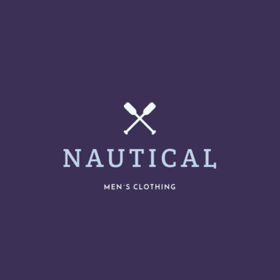 Minimalist Logo Maker for a Men's Clothing Brand 1315h 122-el